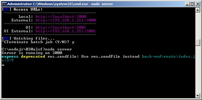Express deprecated res sendfile | A Community Node js